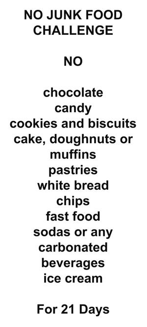 My 21Days No Junk Food Challenge: Consistency